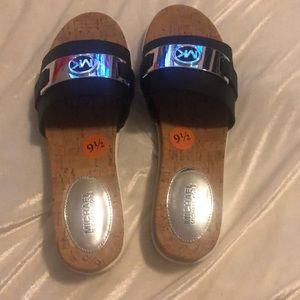 Michael Kor Navy Blue Sandals Slides